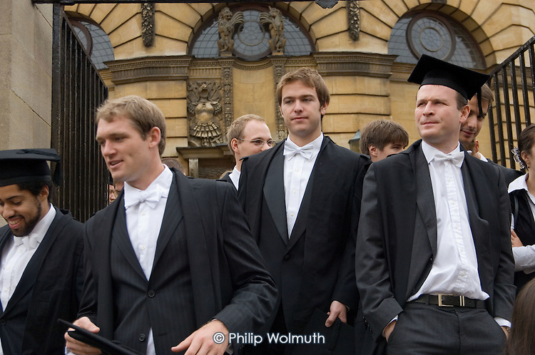 First year students at Oxford arrive at the Sheldonian Theatre for matriculation, the ceremony which marks their formal induction into the university.