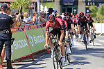 Team Ineos with Ian Stannard (GBR) on the front recon Stage 1 of La Vuelta 2019, a team time trial running 13.4km from Salinas de Torrevieja to Torrevieja, Spain. 24th August 2019.<br /> Picture: Eoin Clarke | Cyclefile<br /> <br /> All photos usage must carry mandatory copyright credit (© Cyclefile | Eoin Clarke)
