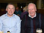 Tony Kirk and Joe Crawley pictured at St mary's GFC Ardee awards night. Photo:Colin Bell/pressphotos.ie