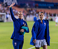 HOUSTON, TX - FEBRUARY 03: Ashlyn Harris #12 of the United States waves to the crowd during a game between Costa Rica and USWNT at BBVA Stadium on February 03, 2020 in Houston, Texas.