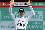 Michal Kwiatkowski (POL) Team Sky retains the Combination Jersey at the end of Stage 6 of the La Vuelta 2018, running 150.7km from Hu&eacute;rcal-Overa to San Javier, Mar Menor, Sierra de la Alfaguara, Andalucia, Spain. 30th August 2018.<br /> Picture: Colin Flockton | Cyclefile<br /> <br /> <br /> All photos usage must carry mandatory copyright credit (&copy; Cyclefile | Colin Flockton)
