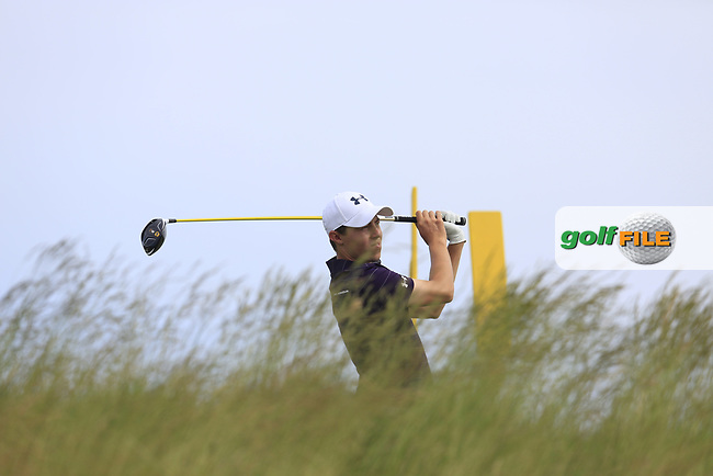 Matt Fitzpatrick (ENG) tees off the 5th tee during Friday's Round 2 of the 117th U.S. Open Championship 2017 held at Erin Hills, Erin, Wisconsin, USA. 16th June 2017.<br /> Picture: Eoin Clarke | Golffile<br /> <br /> <br /> All photos usage must carry mandatory copyright credit (&copy; Golffile | Eoin Clarke)