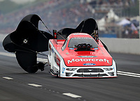 Apr 21, 2018; Baytown, TX, USA; NHRA funny car driver Bob Tasca III during qualifying for the Springnationals at Royal Purple Raceway. Mandatory Credit: Mark J. Rebilas-USA TODAY Sports