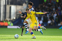 Matheus Pereira of West Bromwich Albion battles with George Byers of Swansea City during the Sky Bet Championship match between West Bromwich Albion and Swansea City at The Hawthorns in Birmingham, England, UK. Sunday 08 December 2019
