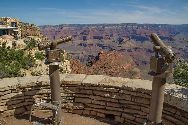 Telescopes at South Rim overlook, Grand Canyon National Park, Arizona .  John offers private photo tours in Grand Canyon National Park and throughout Arizona, Utah and Colorado. Year-round. . John offers private photo tours in Grand Canyon National Park and throughout Arizona, Utah and Colorado. Year-round.