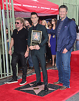 Adam Levine, Blake Shelton &amp; Sammy Haggar at the Hollywood Walk of Fame Star Ceremony honoring singer Adam Levine. Los Angeles, USA 10 February  2017<br /> Picture: Paul Smith/Featureflash/SilverHub 0208 004 5359 sales@silverhubmedia.com