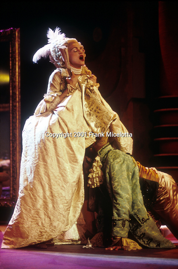"""Madonna preforming her song """"Vogue"""", on the MTV Video Music Awards in September 1990. Photo by Frank Micelotta/ImageDirect"""