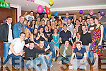 TRIBBLE CELEBRATIONS: Twins Norman and Henry McCann, Leith West, Tralee and Elena Quirke, St John's Park Tralee (seated 4th, 5th and 6th left) having a great time with a large group of family and friends celebrating their 21st birthdays at the Abbey Inn, Tralee on Saturday.