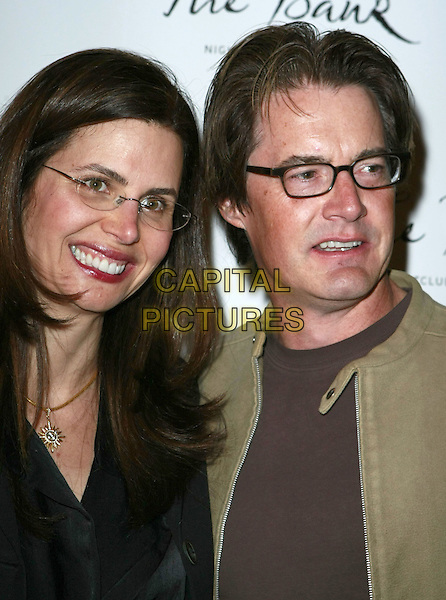 26 January 2008 - Las Vegas, Nevada - Kyle MacLachlan and Desiree Gruber. The Bank Night Club Grand Opening inside The Bellagio Hotel Casino. Photo Credit: MJT/AdMedia