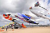 Nederland  Scheveningen. September 2018. Vliegerfestival op het strand van Scheveningen.    Foto Berlinda van Dam / Hollandse Hoogte