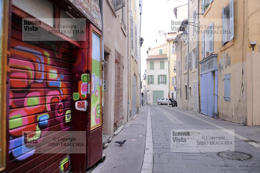 - Marsiglia, l'antico quartiere popolare del Panier....- Marseille, the ancient popular district of Panier