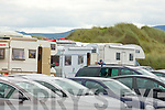 Ileagal Caravans parked in Banna Strand car park on Friday.