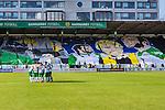 Stockholm 2013-06-23 Fotboll Superettan , Hammarby IF - &Auml;ngelholms FF :  <br /> Hammarby Bajen supportrar tifo  p&aring; Norra l&auml;ktaren med Hammarby legendarer inf&ouml;r den sista matchen p&aring; S&ouml;derstadion <br /> (Foto: Kenta J&ouml;nsson) Nyckelord:  supporter fans publik supporters tifo