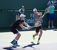 ANDY MURRAY (GBR) THANASI KOKKINAKIS (AUS)<br /> <br /> Tennis - BNP PARIBAS OPEN 2015 - Indian Wells - ATP 1000 - WTA Premier -  Indian Wells Tennis Garden  - United States of America - 2015<br /> &copy; AMN IMAGES