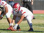 Palos Verdes, CA 10/21/16 - Jayden Gregorio (Redondo Union #58) in action during the CIF Southern Section Bay League Redondo Union - Palos Verdes Peninsula game at Peninsula High School.