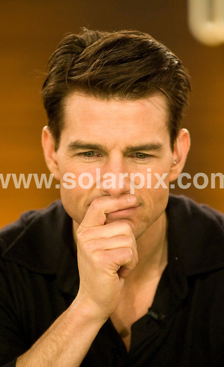 **ALL ROUND PICTURES FROM SOLARPIX.COM**.**SYNDICATION RIGHTS FOR UK AND SPAIN ONLY**.american actor Tom Cruise guests on the German TV show 'I Bet' (Wetten, dass..?) in Offenburg, Germany. 24th January 2009..This pic: Tom Cruise..JOB REF: 8322 CPR (Joerg Koch) DATE: 24_01_2009.**MUST CREDIT SOLARPIX.COM OR DOUBLE FEE WILL BE CHARGED* *UNDER NO CIRCUMSTANCES IS THIS IMAGE TO BE REPRODUCED FOR ANY ONLINE EDITION WITHOUT PRIOR PERMISSION*
