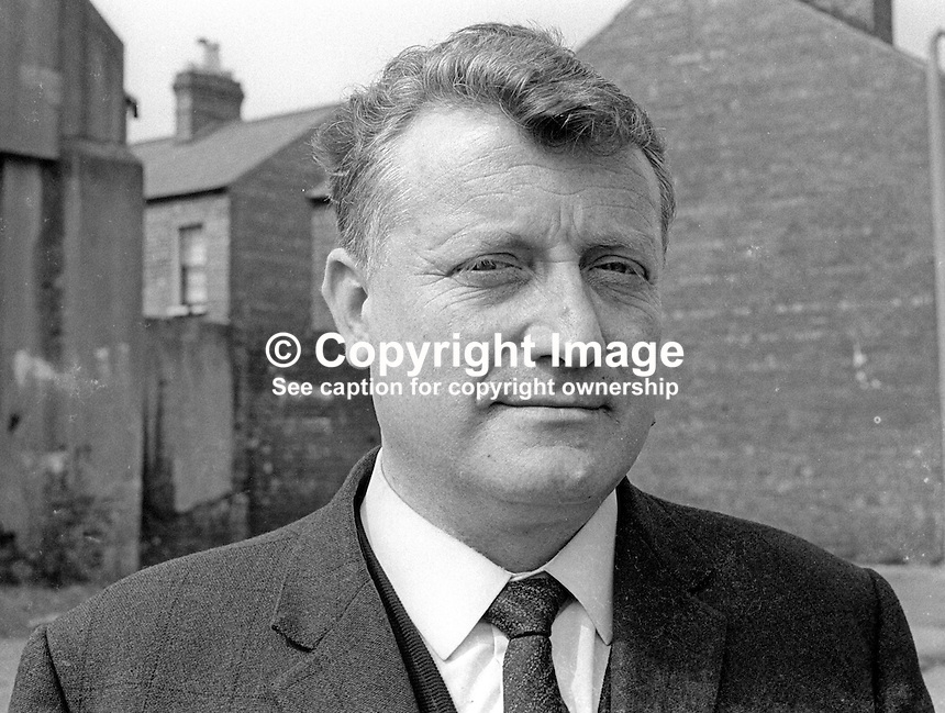 Councillor James O'Kane, Republican Labour Party, Belfast Corporation, N Ireland, April 1970. 197004000169<br />