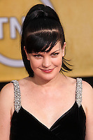 LOS ANGELES, CA - JANUARY 18: Pauley Perrette at the 20th Annual Screen Actors Guild Awards held at The Shrine Auditorium on January 18, 2014 in Los Angeles, California. (Photo by Xavier Collin/Celebrity Monitor)