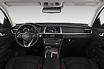 Stock photo of straight dashboard view of a 2019 KIA Optima Sense  5 Door Wagon