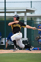 Pittsburgh Pirates Michael Suchy (19) during a minor league spring training game against the Toronto Blue Jays on March 26, 2015 at Pirate City in Bradenton, Florida.  (Mike Janes/Four Seam Images)