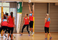 24.08.2016 Silver Ferns Maia Wilson in action during the Silver Ferns Training in Auckland. Mandatory Photo Credit ©Michael Bradley.