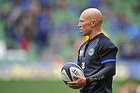 Peter Stringer of Bath Rugby looks on during the pre-match warm-up. European Rugby Champions Cup quarter final, between Leinster Rugby and Bath Rugby on April 4, 2015 at the Aviva Stadium in Dublin, Republic of Ireland. Photo by: Patrick Khachfe / Onside Images