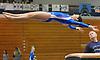 Lauren Pittinsky of Long Beach soars through the air after a vault in a Nassau County varsity gymnastics meet against Massapequa at Long Beach High School in Lido Beach on Thursday, Jan. 11, 2018.
