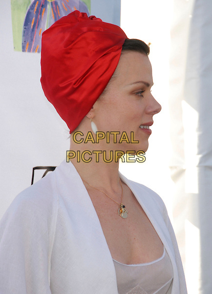 DEBI MAZAR.Attends Los Angeles Antiques Show Preview Party held at Barker Hangar in Santa Monica, California, USA..April 25th, 2007.headshot portrait profile debbie red headscarf  turban .CAP/DVS.©Debbie VanStory/Capital Pictures