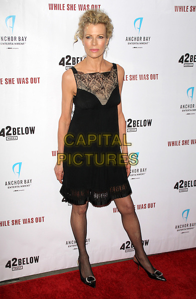 """KIM BASINGER .""""While She Was Out"""" Los Angeles Premiere at Arclight Cinemas, Hollywood, California, USA..December 9th, 2008.full length black lace sleeveless dress shirt slingbacks shoes pointy fishnet stockings tights .CAP/ADM/KB.©Kevan Brooks/AdMedia/Capital Pictures."""