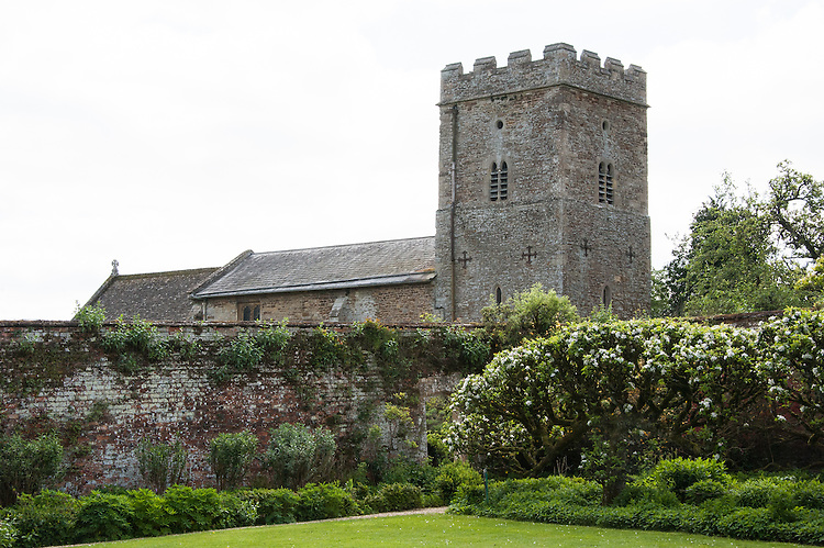 St Leonard & St James Church seen from the Vegetable Garden, Rousham House and Garden.