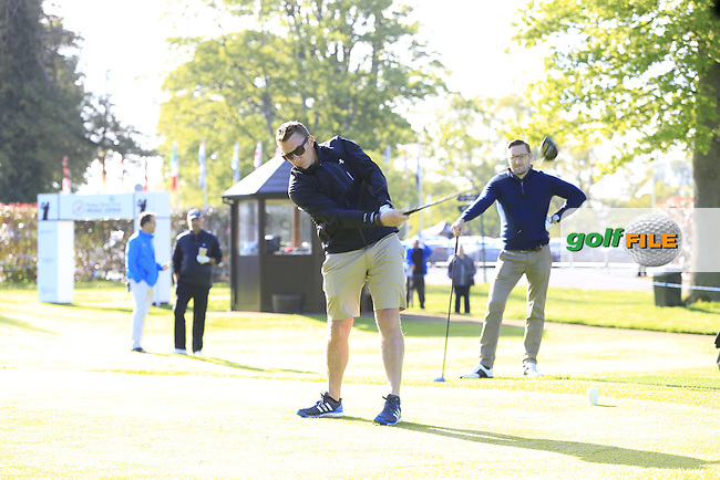 Thomas Bjorn (DEN) team in action during Wednesday's Pro-Am of the 2016 Dubai Duty Free Irish Open hosted by Rory Foundation held at the K Club, Straffan, Co.Kildare, Ireland. 18th May 2016.<br />