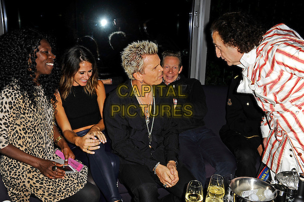 LONDON, ENGLAND - OCTOBER 30: Jeni Cook, Lindsay Cross, Billy Idol, Paul Cook and Philip Sallon attending the Billy Idol 'Kings and Queens Of The Underground' album launch party at the Mondrian London on October 30, 2014 in London, England.<br /> CAP/MAR<br /> &copy; Martin Harris/Capital Pictures<br /> *EXCLUSIVE - SPECIAL FEES APPLY*