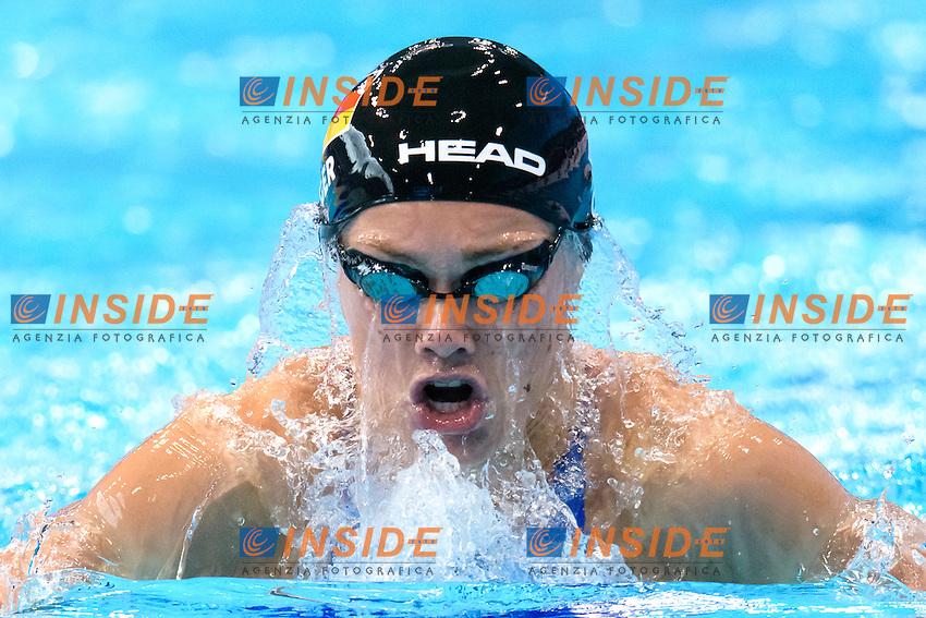 Jessica STEIGER GER <br /> 200m Breaststroke Preliminary <br /> London, Queen Elizabeth II Olympic Park Pool <br /> LEN 2016 European Aquatics Elite Championships <br /> Swimming<br /> Day 11 19-05-2016<br /> Photo Andrea Staccioli/Deepbluemedia/Insidefoto