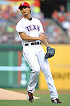 Yu Darvish (Rangers),<br /> MAY 21, 2013 - MLB :<br /> Pitcher Yu Darvish of the Texas Rangers during the Major League Baseball game against the Oakland Athletics at Rangers Ballpark in Arlington in Arlington, Texas, United States. (Photo by AFLO)