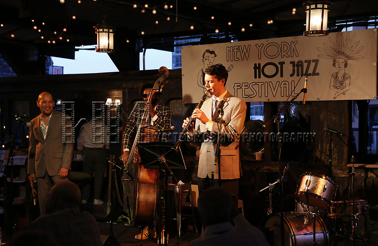 Evan Christopher's Clarinet Road performs at the New York Hot Jazz Festival own September 30, 2018 at The McKittrick Hotel in New York City.