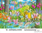 Ingrid, CHILDREN, KINDER, NIÑOS, paintings+++++,USISSS98S,#K#,fairy tale,fairies,castle ,vintage