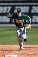Siena Saints infielder Brian Fay (28) during a game against the Central Florida Knights at Jay Bergman Field on February 16, 2014 in Orlando, Florida.  UCF defeated Siena 9-6.  (Mike Janes/Four Seam Images)