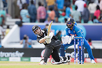 Kane Williamson (New Zealand) lofts over the mid wicket boundary for a maximum during India vs New Zealand, ICC World Cup Warm-Up Match Cricket at the Kia Oval on 25th May 2019