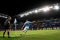 Riyad Mahrez of Manchester City takes a corner during the UEFA Champions League Group C match between Manchester City and Dinamo Zagreb at the Etihad Stadium on October 1st 2019 in Manchester, England. (Photo by Daniel Chesterton/phcimages.com)<br /> Foto PHC/Insidefoto <br /> ITALY ONLY