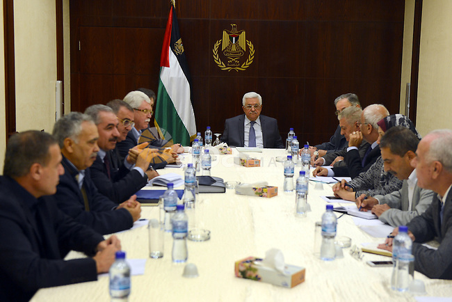 Palestinian President Mahmoud Abbas (Abu Mazen) meet with the Central Committee of the Fatah movement in the West Bank city of Ramallah, on Nov. 02, 2013. Photo by Thaer Ganaim