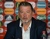 20170719 - BREDA , NETHERLANDS :  Belgian media officer Stefan Van Loock pictured during a press conference of the Belgian national women's soccer team Red Flames, on Wednesday 19 July 2017 at stadion Rat Verlegh in Breda on matchday -1 . The Red Flames are at the Women's European Championship 2017 in the Netherlands. PHOTO SPORTPIX.BE | DAVID CATRY