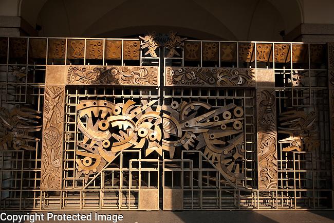 Main entrance to the Regio Theatre in Turin - Torino, Italy