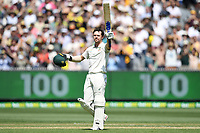 27th December 2019; Melbourne Cricket Ground, Melbourne, Victoria, Australia; International Test Cricket, Australia versus New Zealand, Test 2, Day 2; Travis Head of Australia celebrates scoring a century - Editorial Use