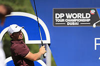 Sam Horsfield (ENG) on the 16th during the 1st round of the DP World Tour Championship, Jumeirah Golf Estates, Dubai, United Arab Emirates. 15/11/2018<br /> Picture: Golffile | Fran Caffrey<br /> <br /> <br /> All photo usage must carry mandatory copyright credit (&copy; Golffile | Fran Caffrey)