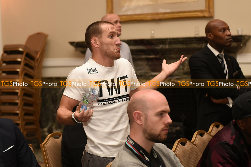 Ryan Walsh looks on during a Press Conference at the Landmark Hotel on 18th May 2017