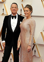 09 February 2020 - Hollywood, California - Tom Hanks, Rita Wilson. 92nd Annual Academy Awards presented by the Academy of Motion Picture Arts and Sciences held at Hollywood & Highland Center. Photo Credit: AdMedia