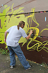 at the 2010 Graffiti Jam under the Bridge of Peace in Drogheda. .Picture Jenny Matthews/Newsfile.ie