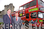 Cathal O'Grady, Pat Moynihan and , Patrick Paxo O'Sullivan (in bus) who have started The Big Red Bus tours around Killarney taking visitors to all of Killlarney's famous sites