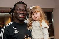 Tuesday  15 December 2015<br /> Pictured: Befetimbi Gomis<br /> Re: Kids SCFC Christmas Party at the Liberty Stadium, Swansea