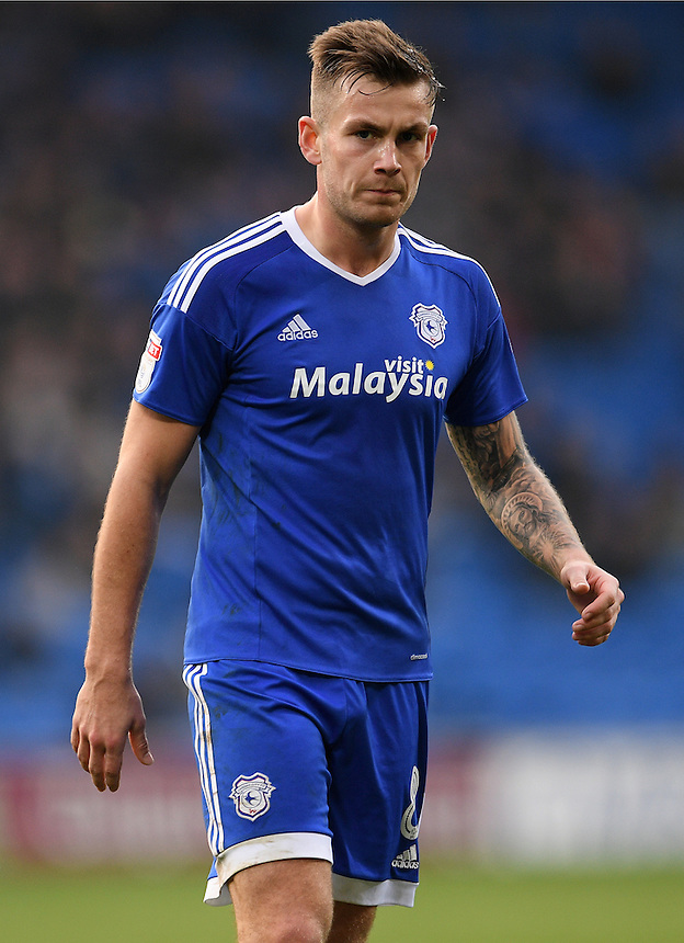 Cardiff City's Joe Ralls in action<br /> <br /> Photographer Ashley Crowden/CameraSport<br /> <br /> The EFL Sky Bet Championship - Cardiff City v Rotherham United - Saturday 18th February 2017 - Cardiff City Stadium - Cardiff<br /> <br /> World Copyright &copy; 2017 CameraSport. All rights reserved. 43 Linden Ave. Countesthorpe. Leicester. England. LE8 5PG - Tel: +44 (0) 116 277 4147 - admin@camerasport.com - www.camerasport.com